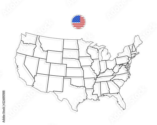United States Of America Map. USA Vector. Black – kaufen Sie ...