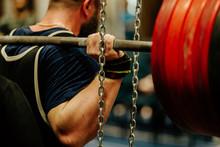 Powerlifting Back Male Athlete...
