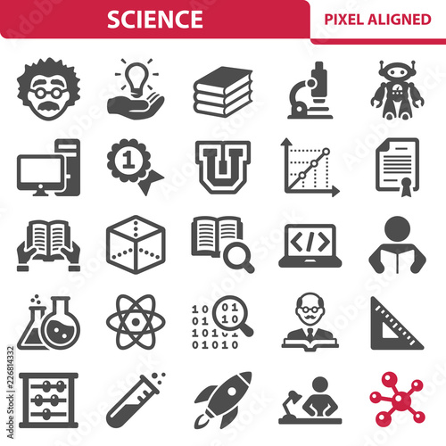 Science Icons Wallpaper Mural