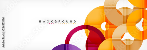 Fotografie, Obraz  Geomtric modern backgrounds, rings abstract template
