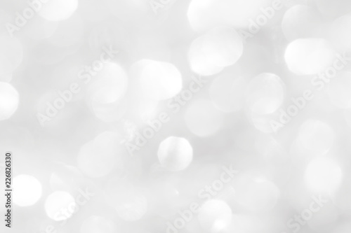 Fototapety, obrazy: Brilliant white background with circles of different sizes. Template for New Year's postcard.