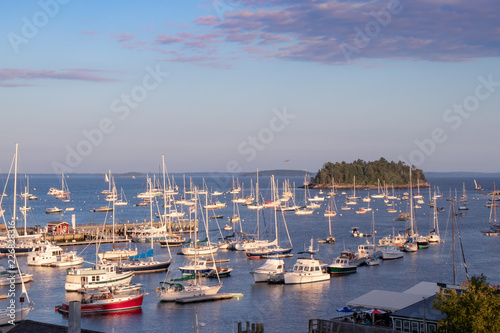 Photo  ships docked in Maine harbor