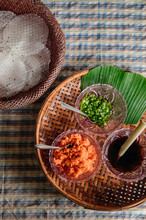 Khao Kriab Yana Local Snack Of Ban Nam Chiao, Trat, Thailand Street Food