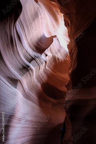 Beautiful of sandstone formations in upper Antelope Canyon, Page, Arizona