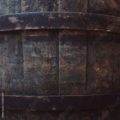 Oak barrel closeup