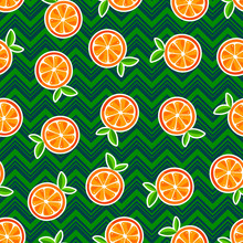 Cute Seamless Oranges