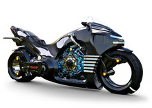 Futuristic Angled Light Cycle....