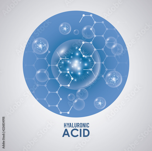 Fotografia hyaluronic acid filler injection infographic