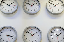 Clocks On Wall, Symbol For Gre...
