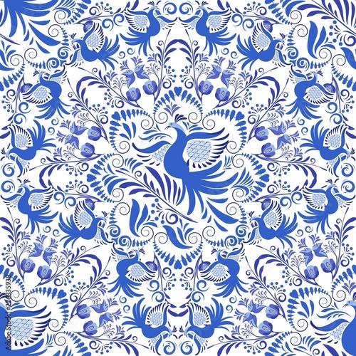 bez-szwu-niebieski-i-bialy-wzor