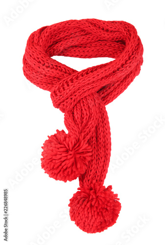Fotografie, Obraz  Red scarf isolated.