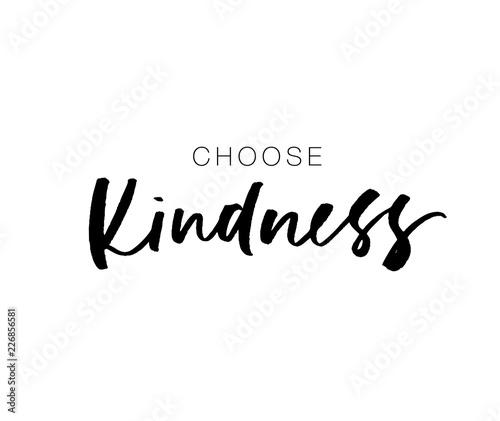 Choose kindness postcard Wallpaper Mural
