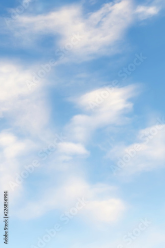 Canvas Prints Heaven 3d rendering of blue sky with white clouds