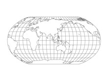 World Map In Robinson Projecti...