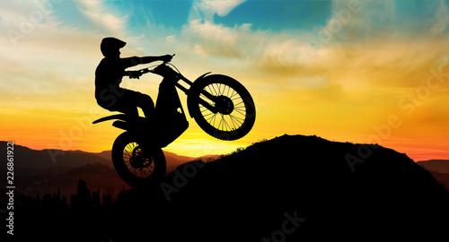 Foto Motorbike trial rider