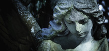 Death. Angel. Ancient Sculpture. (pain, Fear, Future, The End Concept)