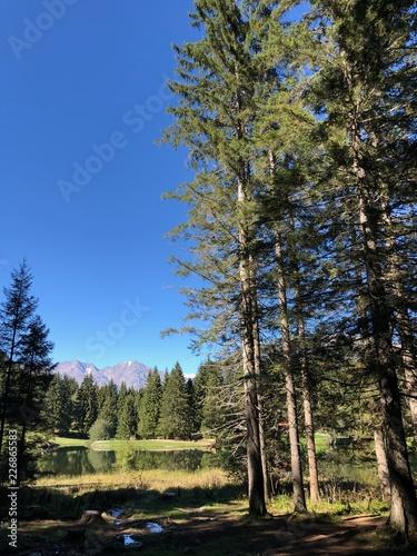 lago di montagna montagne escursione gita relax baita monti montagne laghi natur Wallpaper Mural