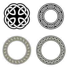 Celtic Ornaments. Isolated Vec...