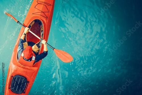 Kayaker Lake Tour Aerial Tapéta, Fotótapéta