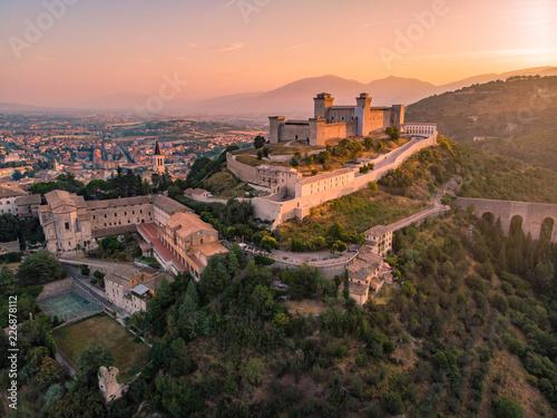 Rocca Albornoziana, Castle of Spoleto Canvas Print