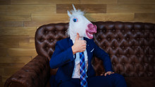 Funny Unicorn In Elegant Suit ...