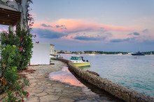 View Of The Picturesque Coastal Town Of Porto Heli, Peloponnese, Greece.