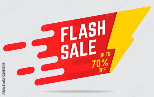 Obraz flat flash sale banner - fototapety do salonu