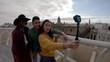Taking selfie on top of Metropol Parasol, POV