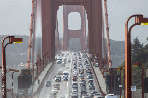Traffic on the Golden Gate