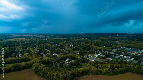 Beautiful Storm Rolling - Aerial Perspective