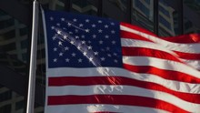 The American Flag Flapping In ...