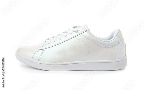 Clean new trendy sneaker on white background