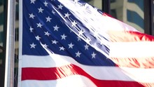 Close-Up Of The American Flag ...