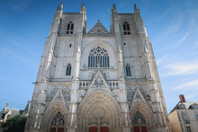 Architectural Detail Of Saint Pierre Cathedral In Nantes
