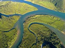 マングローブ林の空撮