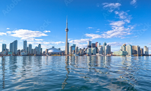Photo  Skyline of Toronto with CN tower Ontario Canada