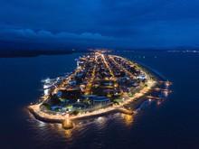 Beautiful Aerial Night View Of Puntarenas Costa Rica