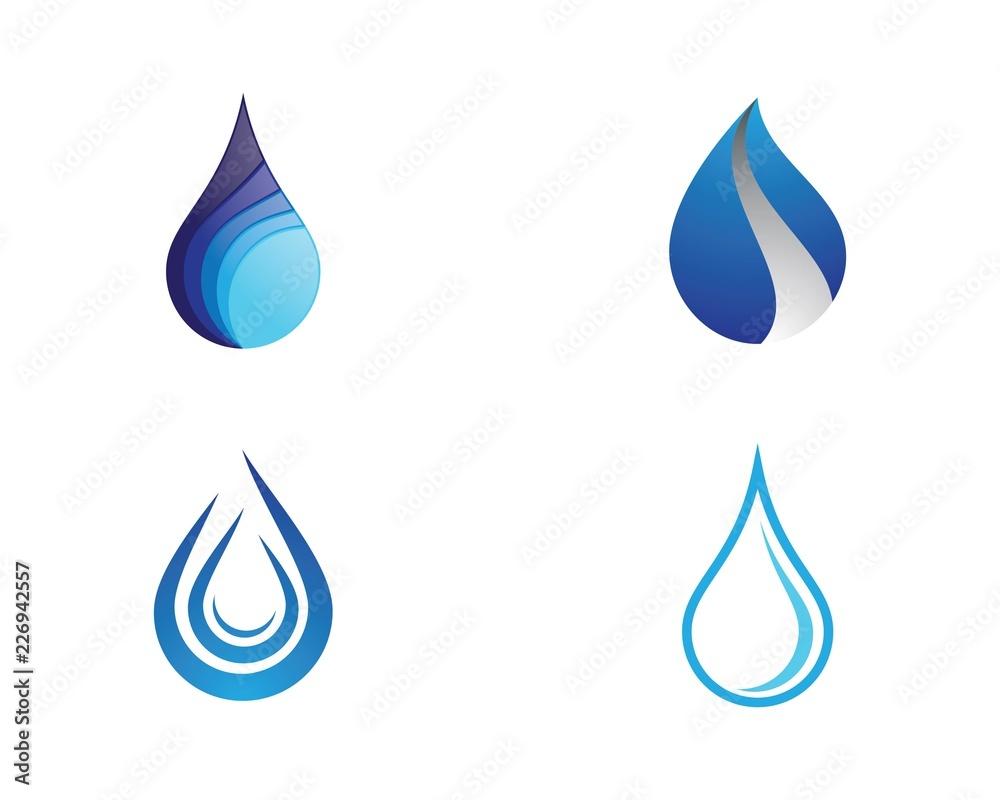 Fototapety, obrazy: Water drop symbol illustration