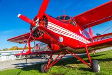 Red Biplane In Kiev Aviation Museum