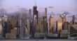 Morning skyline view of the Manhattan Skyline.