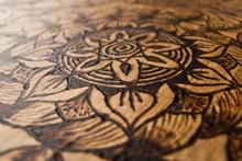 Burning Wood Detail.