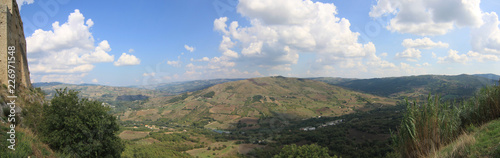Staande foto Grijs panorama paese Castropignano Campobasso Molise Italia