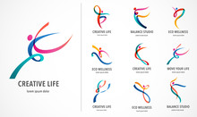 Abstract People Logo Design. G...