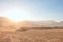 Beautiful View Of Mountains In Desert