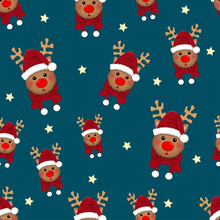 Reindeer Star With Red Scarf O...