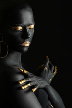 Beautiful Woman With Black And...