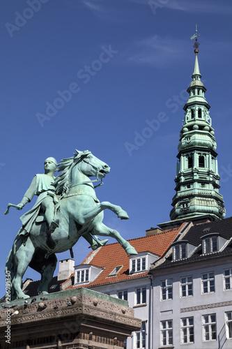 Statue of Absalon - Copenhagen - Denmark Canvas Print