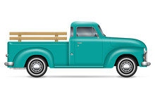 Retro Pickup Vector Illustrati...