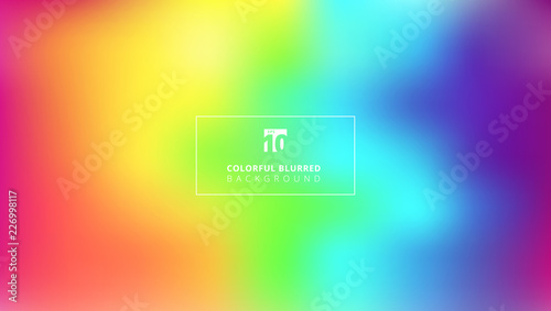 Photo  Abstract bright rainbow color smooth blurred gradient mesh background