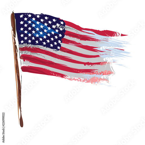 Artistic american flag as vector image Fototapete